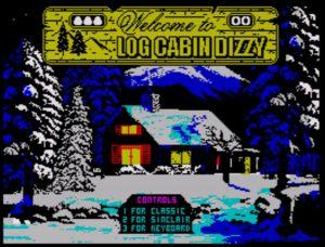 Log Cabin Dizzy - Startscreen