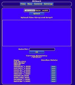 M4 Board Webinterface