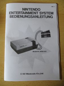 NES Bedienungsanleitung