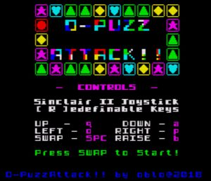 O-Puzz-Attack - Startbildschirm