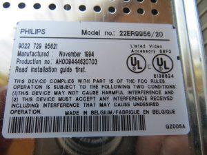 Philips CDi 450 - MPEG-I-Cartridge Label
