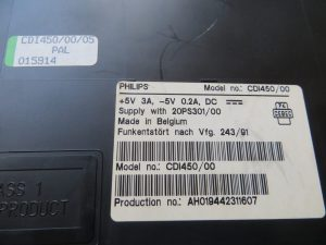 Philips CDi 450 - Model Label