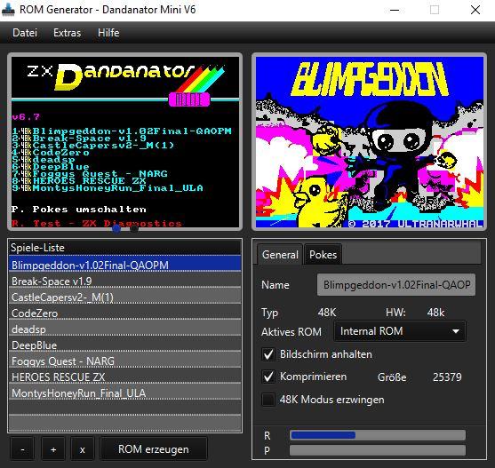 Dandanator Mini - ROM Generator