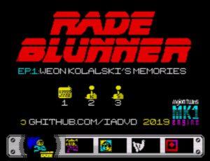 Rade Blunner - Startscreen