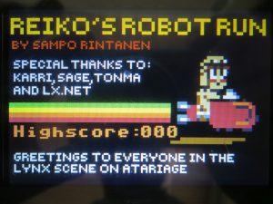 Reikos Robot Run - Titelscreen