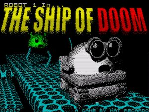 Robot 1 in .. The Ship Of Doom - Ladescreen