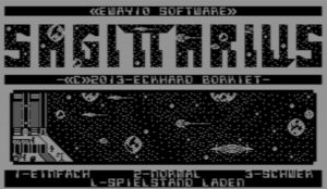 Sagittarius 1 - Startbildschirm