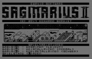 Sagittarius II - Startbildschirm