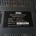 Sega Master System - Unterseite Seriennummer