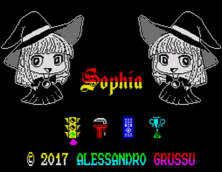 Sophia - Startscreen