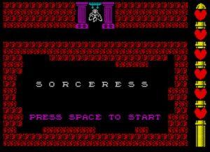 Sorceress - Startscreen