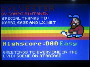 Sylvester - Startscreen