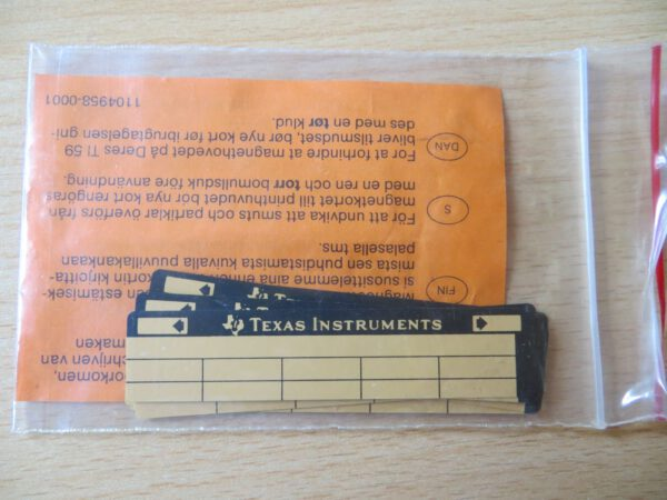 TI59 - 40 magnetic cards 1 car