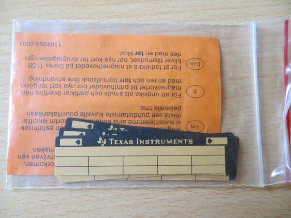 TI59 - 40 magnetic cards 1 car