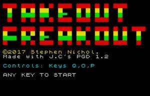 Takeout Freakout - Startscreen