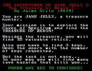 The Adventures of Jane Jelly - Startscreen