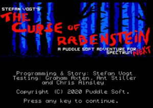 The Curse of Rabenstein - ‌Startscreen