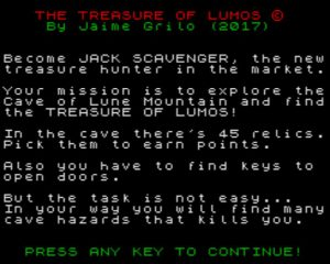 The Treasure Of Lumos - Startscreen
