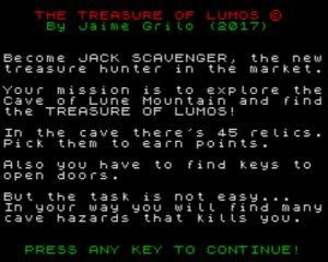 The Treasure Of Lumos - Startscreen