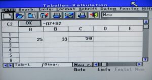 IQ TV 512 - Tabellenkalkulation