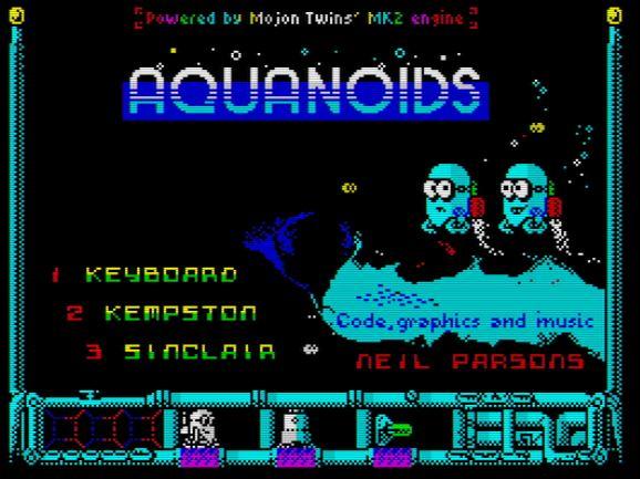 Aquanoids - Menü