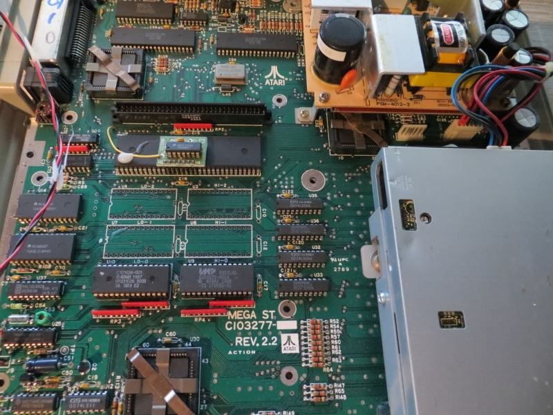 Atari ST - MonSTer - Mega ST Mainboard vor Einbau