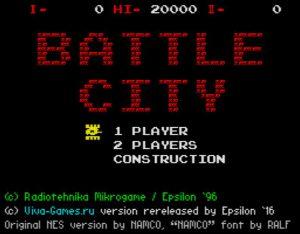 Battle City - Startscreen