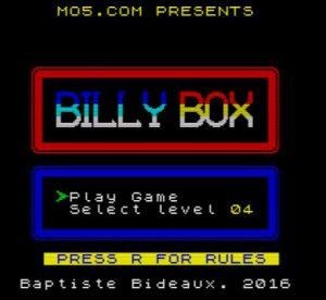 BillyBox - Startbildschirm