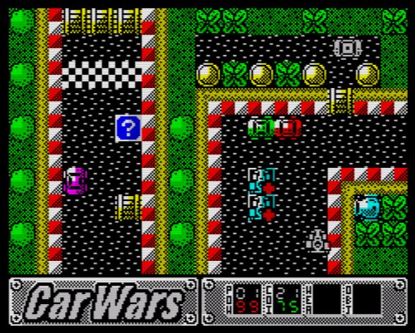 Car Wars 128K - Screen