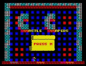 Castle Capers - Startscreen