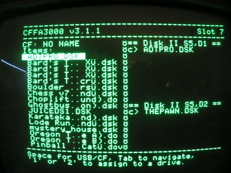 CFFA3000 - Disk Assignment