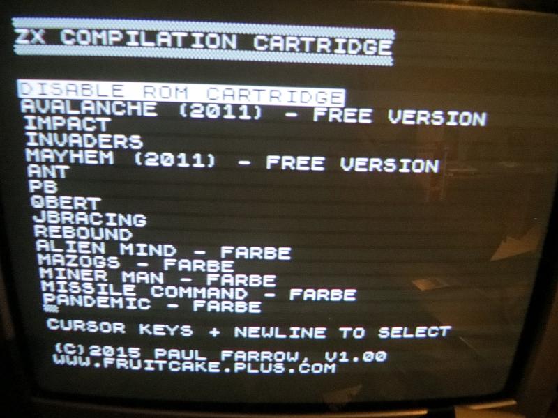 Chroma - ZXC4 Spielemenü
