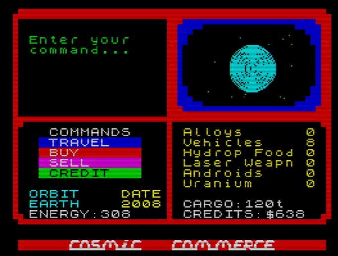 Cosmic Commerce - Screen