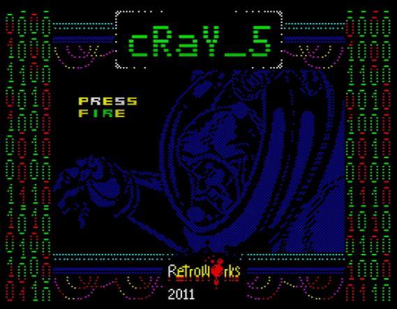 Cray 5 - Startbildschirm