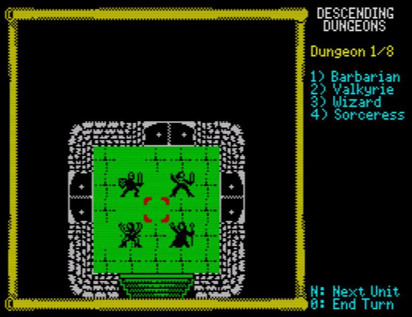 Descending Dungeons - Startbildschirm