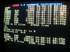 EXDOS Interface - Verzeichnis der Diskette