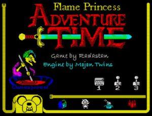 Flame Princess Adventure Time - Menü