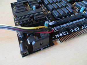 Just CPC 128K - Stromanschluß - Floppyanschluss - Erweiterungsanschluss