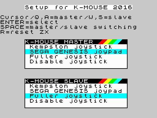 K-Mouse 2016 LP Menü