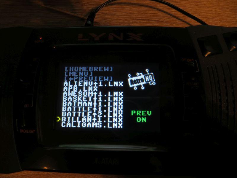 Lynx SD - Menü