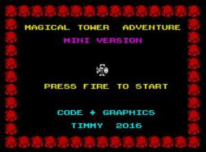 Magical Tower Adventure - Startbildschirm