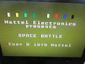 Mattel Intellivision - Einschaltmeldung Space Battle