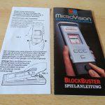 Microvision - Blockbuster Spielanleitung