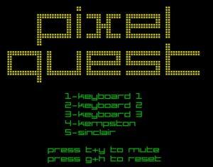 Pixel Quest - Menü