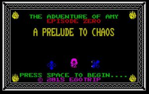 A Prelude To Chaos - StartScreen