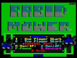 Rabid Mower - Menü