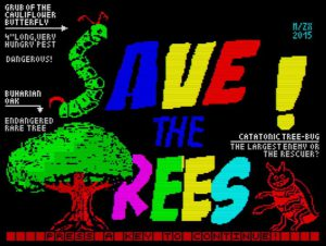 Save The Trees - Ladescreen