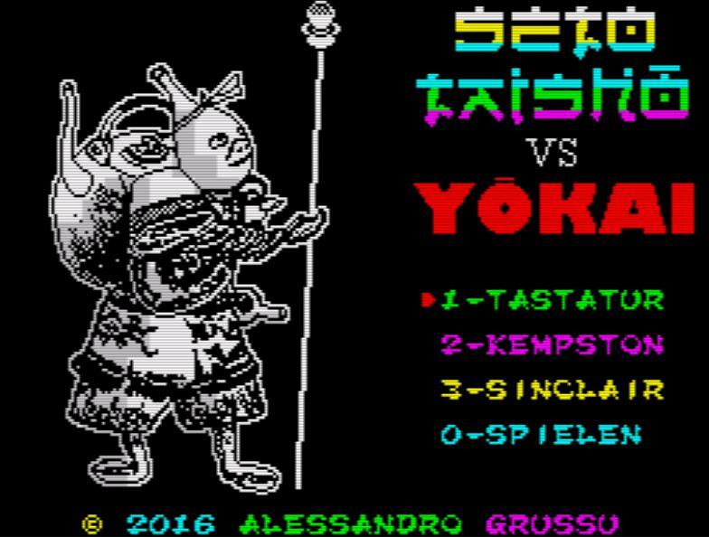SETO TAISHO VS YOKAI - Menü