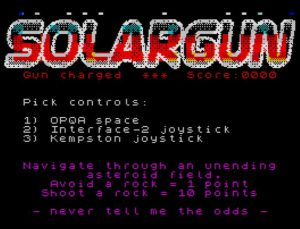 SolarGun - Titelscreen