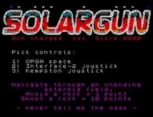 SolarGun - Titelscreen
